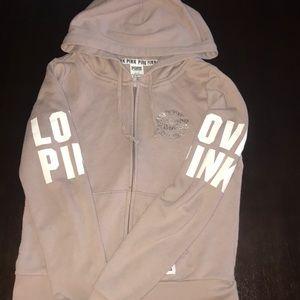 Nude pink full zip hoodie